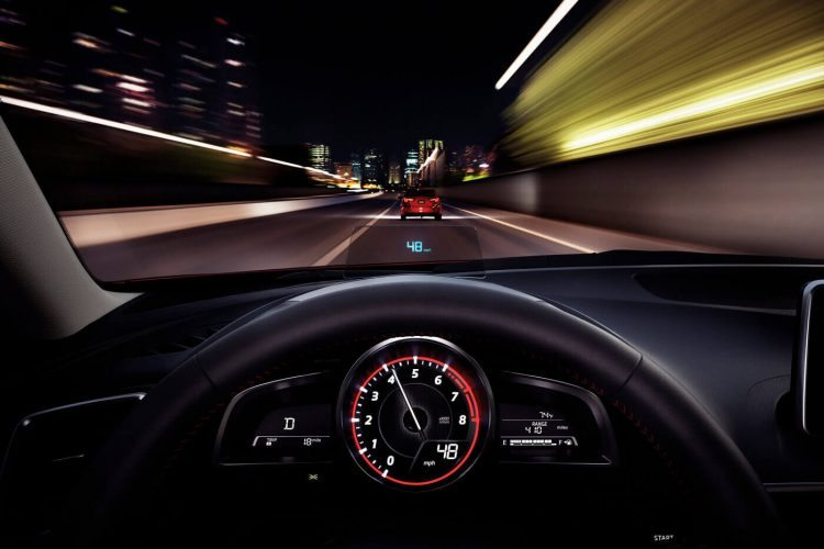 2014 Mazda3 Five Door Interior dash heads up display